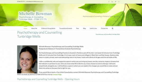 Michelle Bowman Psychoteraphy Counselling Tunbridge Wells